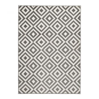 Covor Think Rugs Matrix Grey White, 160 x 220 cm, gri - alb