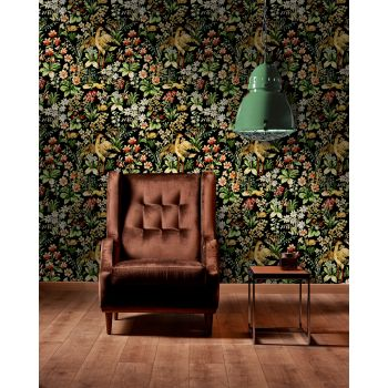 Set 3 role Tapet Imprimat Digital Floral Tapestry