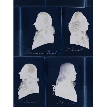 Set 3 role Tapet Imprimat Digital Dutch Portraits Blue