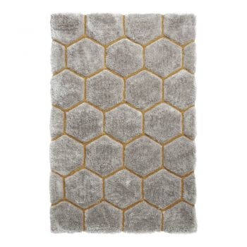 Covor Think Rugs Noble House, 120 x 170 cm, gri - galben