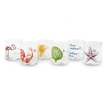 Set 6 pahare Flore et Faune 370 ml