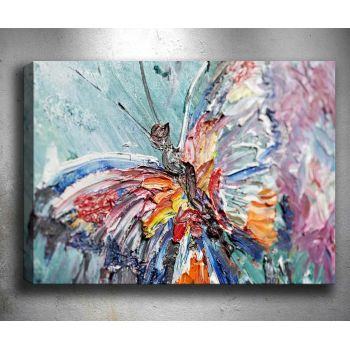Tablou 3D One Butterfly 50x70 cm