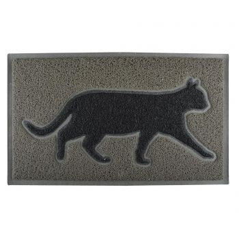 Covoras de intrare Grey Cat 45x75 cm