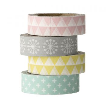 Set 4 benzi decorative Multi-color Paper