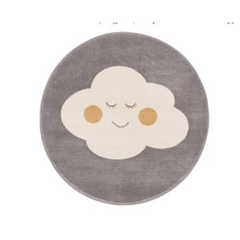 Covor din PP Cloud Grey Round, Wilton