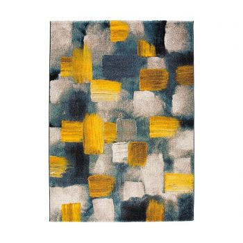 Covor Squares Yellow 140x200 cm
