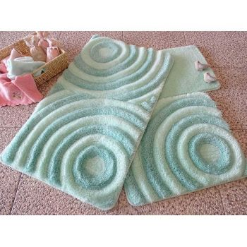 Set 3 covorase de baie Wave Mint