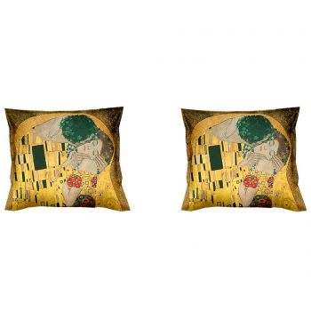 Set 2 fete de perna Klimt The Kiss 40x40 cm
