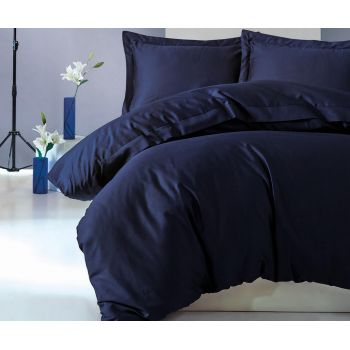 Lenjerie de pat King Satin Supreme Elegant Dark Blue
