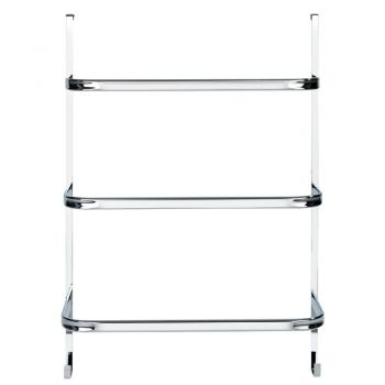 Suport pentru prosoape Wenko Towel Holder Chrome, 21 x 54 cm, argintiu