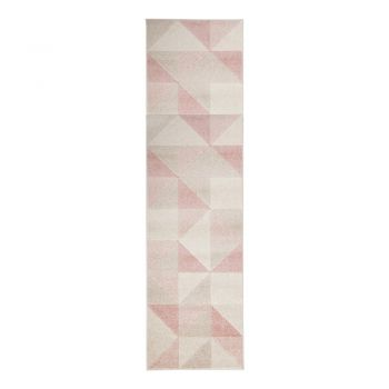 Covor Flair Rugs Urban Triangle, 60 x 220 cm, roz