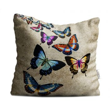 Perna decorativa Butterflies 40x40 cm