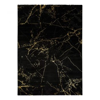 Covor Universal Gold Marble, 140 x 200 cm, negru