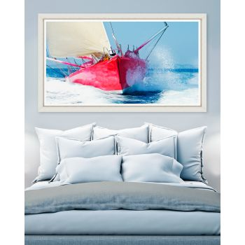 Tablou Framed Art Red Sailboat