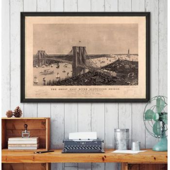 Tablou Framed Art The Great Suspension Bridge