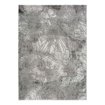Covor Universal Norah Abstract, 140 x 200 cm, gri