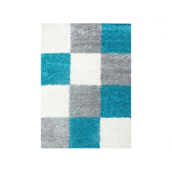 Covor Life Squares Turquoise 200x290 cm
