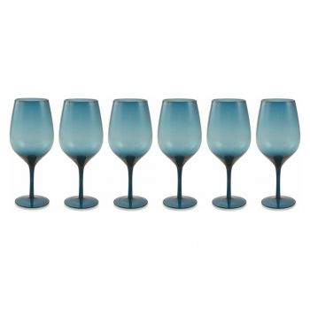Set 6 pahare Happyhour Blue 428 ml