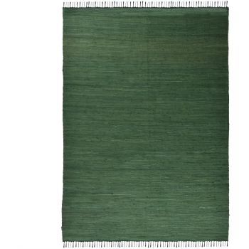 Covor Unicolor Happy Cotton, Verde, 70x140 cm