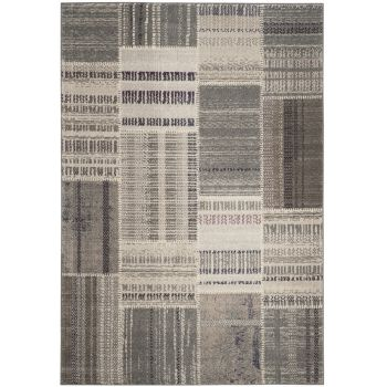Covor Patchwork Deltana, Gri/Multicolor, 201x279