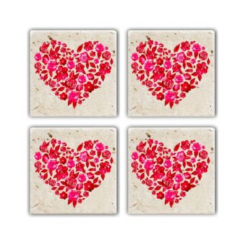 Set 4 coastere 10x10 cm - Taylor, Multicolor